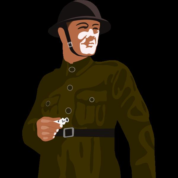 Vector clip art of British soldier