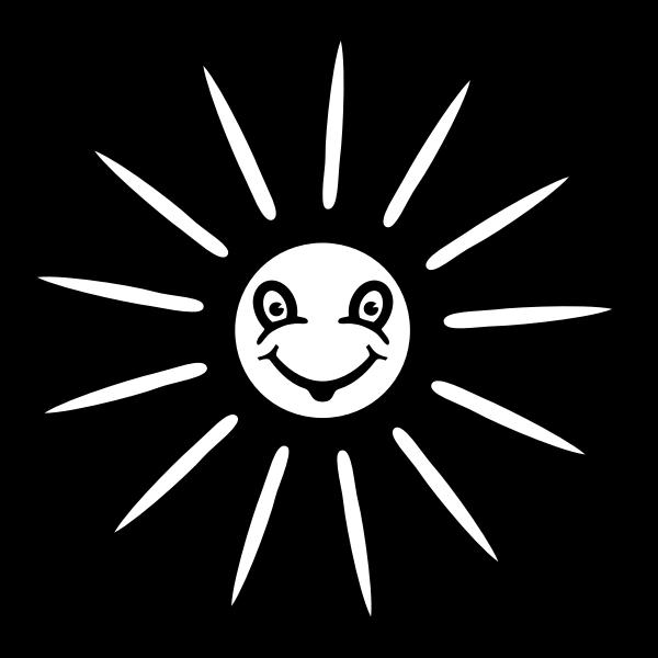 Vector graphics of very happy sun