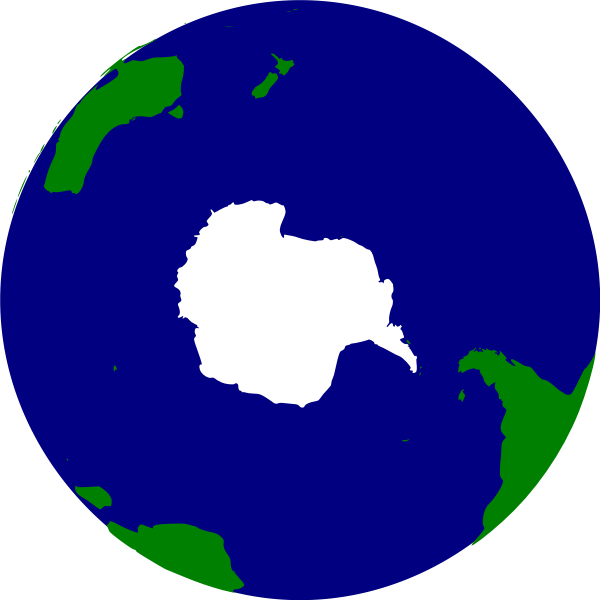 Earth southern hemisphere vector clip art
