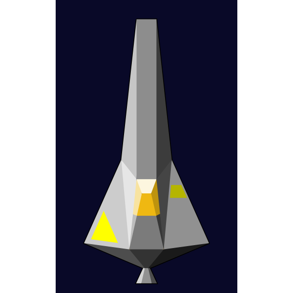 Single-Seater space craft vector image