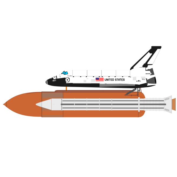 Space shuttle vector drawing