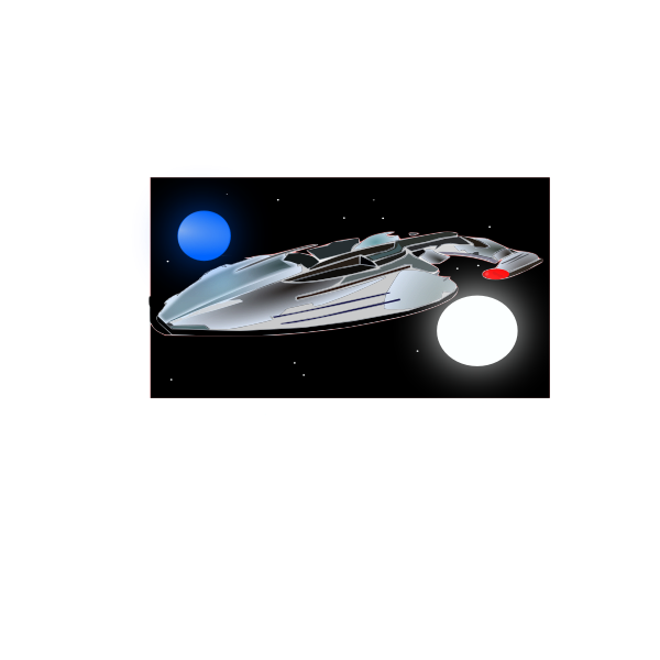 Spaceship Enterprise vector illustration