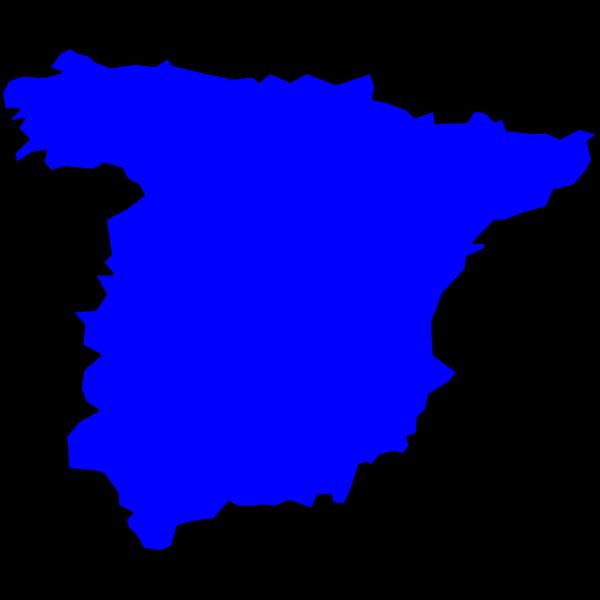 Spain in blue
