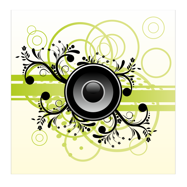 Speaker on abstract background vector illustration