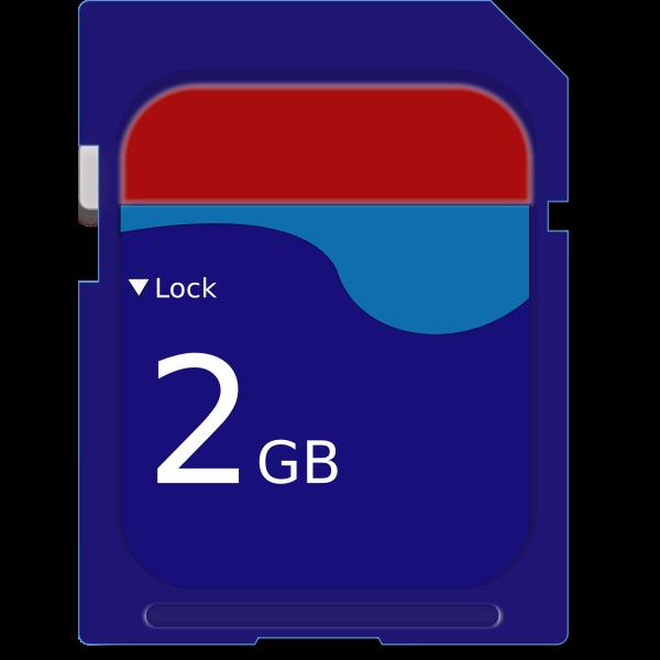 MicroSD card vector illustration