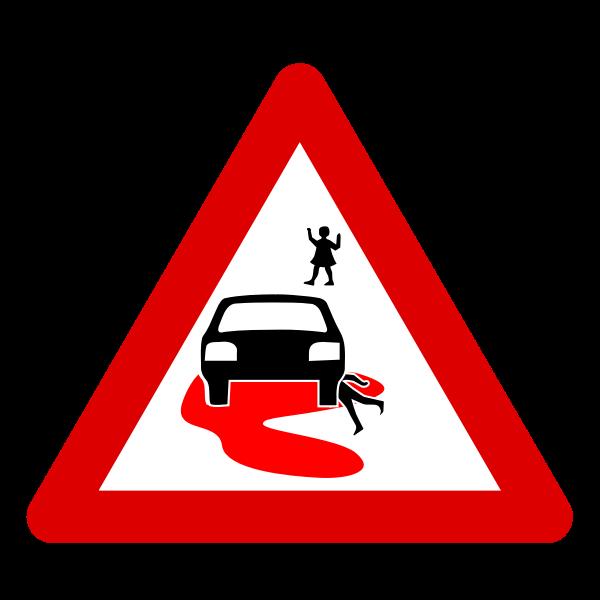 Speed kills roadsign vector image