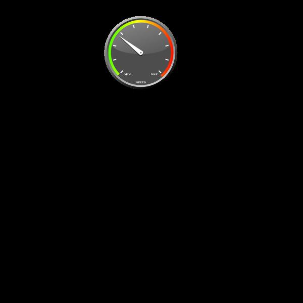 Color speedometer vector image