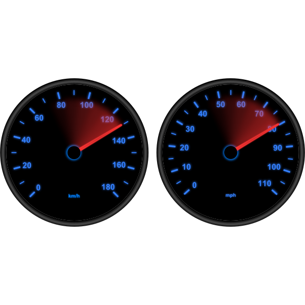 Vector graphics of speedometers