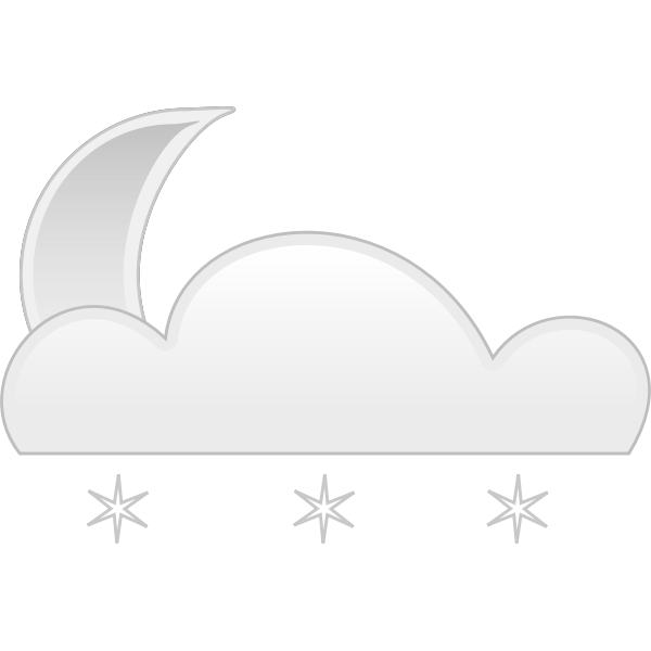 Vector clip art of pastel colored snowy cloud sign