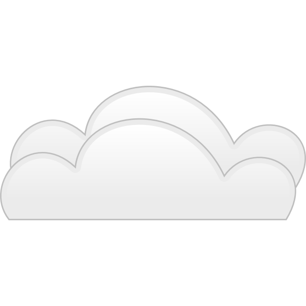 Pastel colored overcloud sign vector illustration