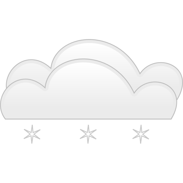 Vector graphics of pastel colored overcloud snow sign