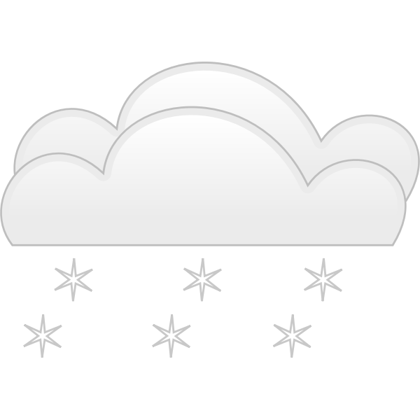 Pastel colored overcloud heavy snow sign vector clip art