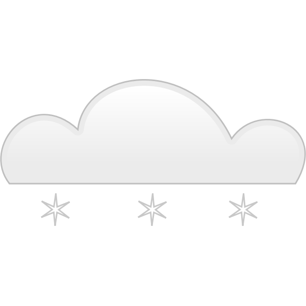 Pastel colored snow sign vector clip art