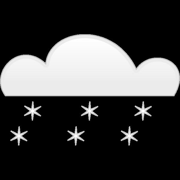 Pastel colored snowfall sign vector clip art
