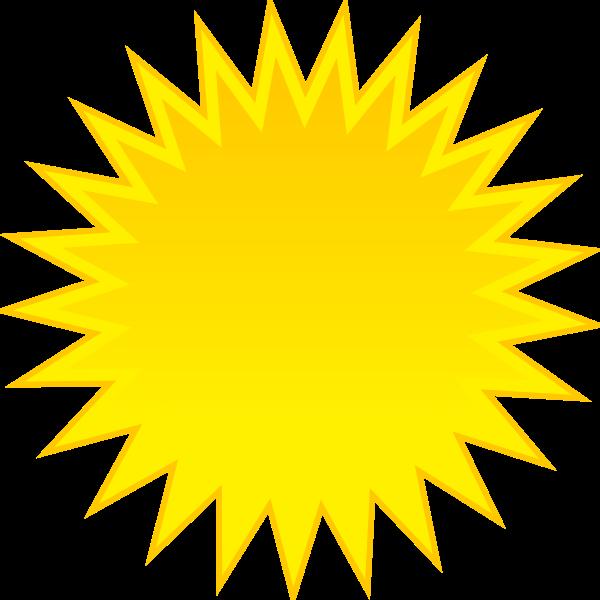 Colored symbol for sunny sky vector clip art