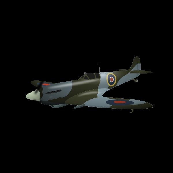 Supermarine Spitfire plane vector illustration
