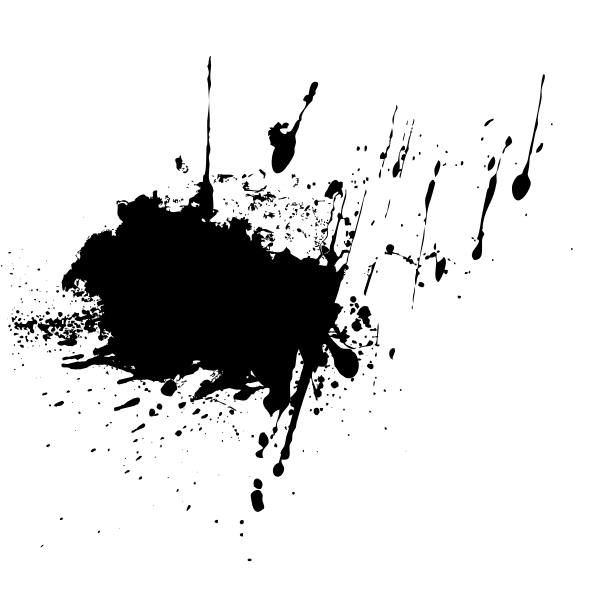 Splatters vector silhouette