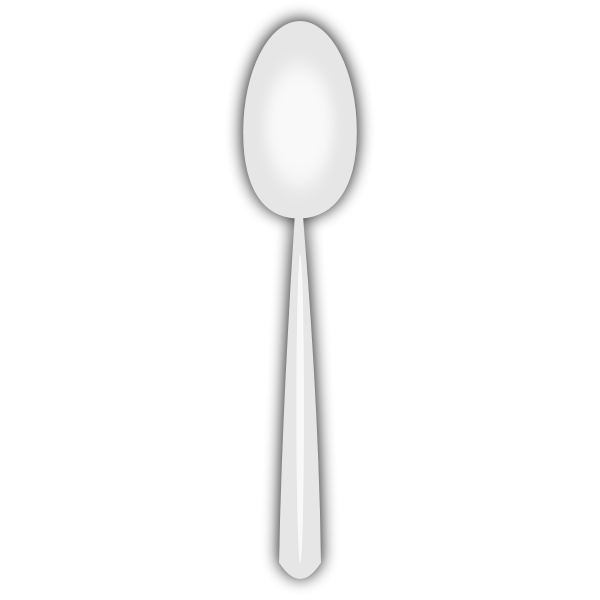 Disposable spoon vector image