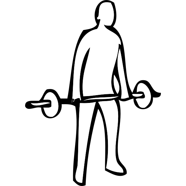 Weightlifting exercise instruction vector clip art