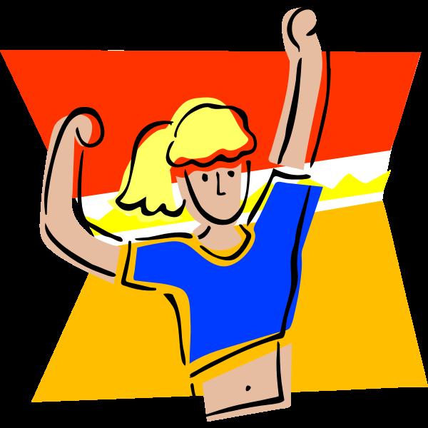 Female athlete vector graphics