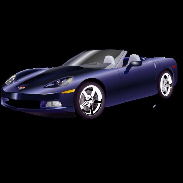 Convertible sports car vector graphics