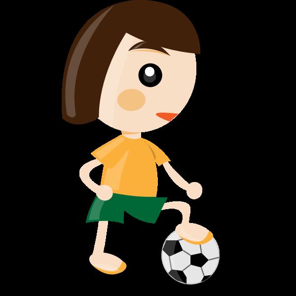 Sport girl vector illustration