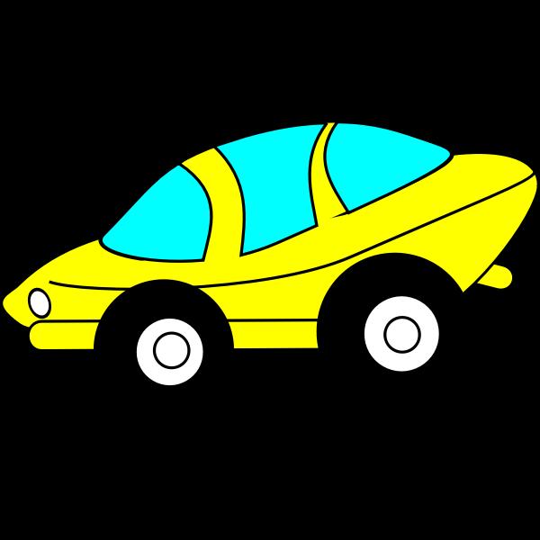 Cartoon sporty car vector image