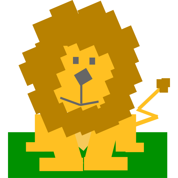 Animal cartoon lion