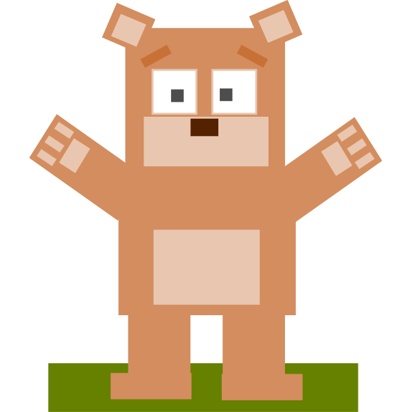 Square cartoon bear vector image