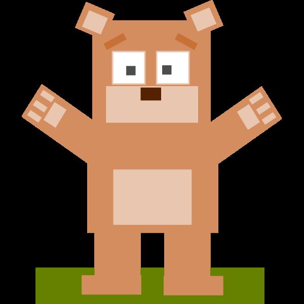 Square cartoon bear vector image