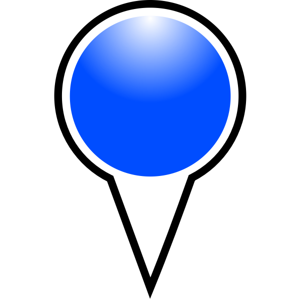 Map pointer blue color vector illustration