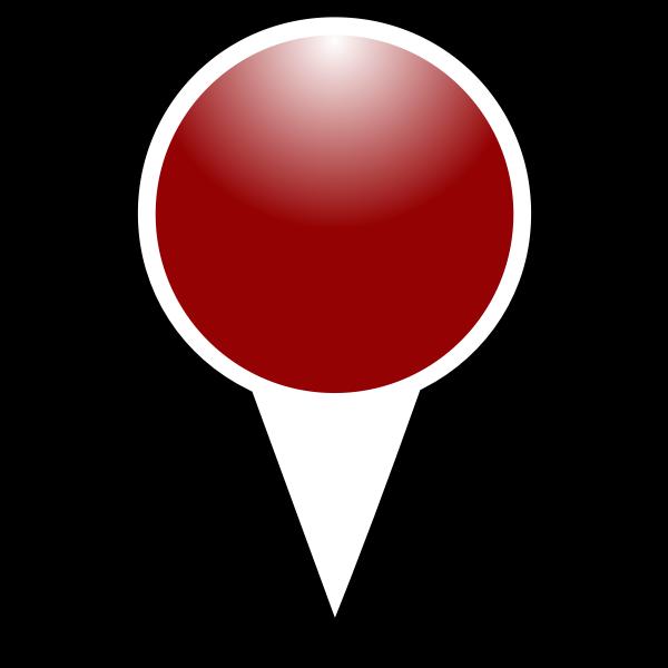 Map pointer crimson color vector illustration