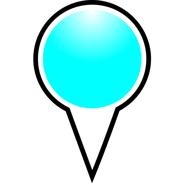 Map pointer cyan color vector drawing