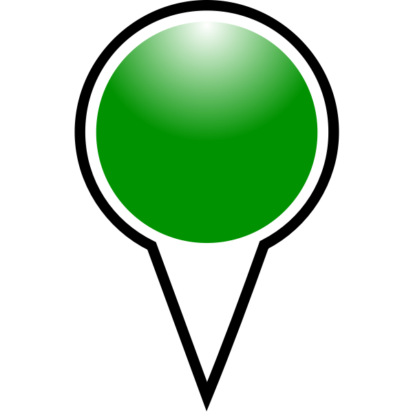 Map pointer green color vector drawing