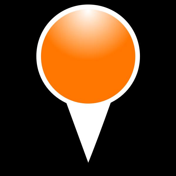 Map pointer orange color vector graphics