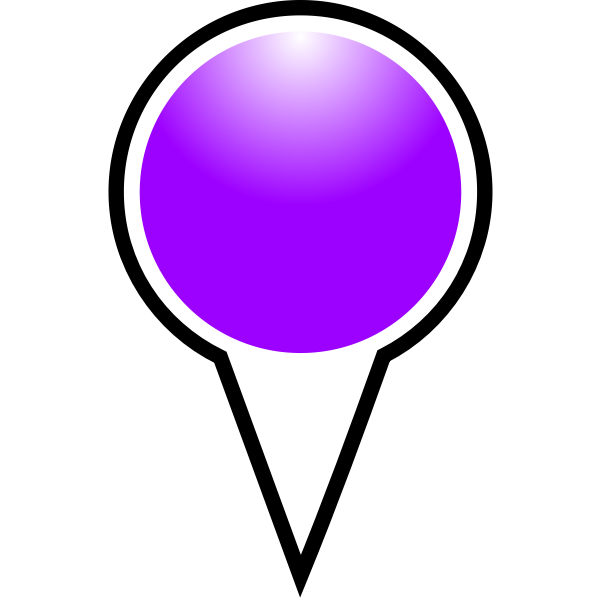 Map pointer purple color vector illustration