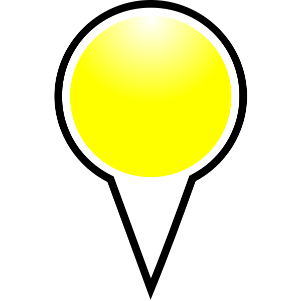 Map pointer yellow color vector image