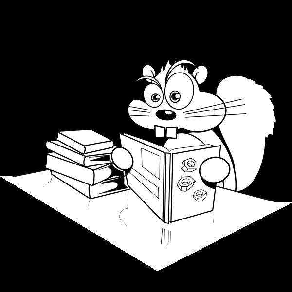 Squirrel reading