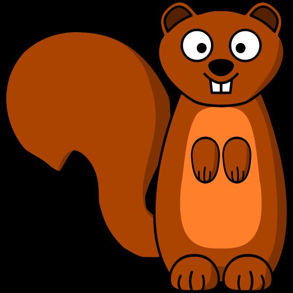 Squirrel cartoon clip art
