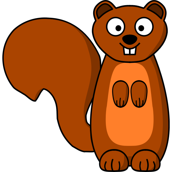 Squirrel cartoon clip art