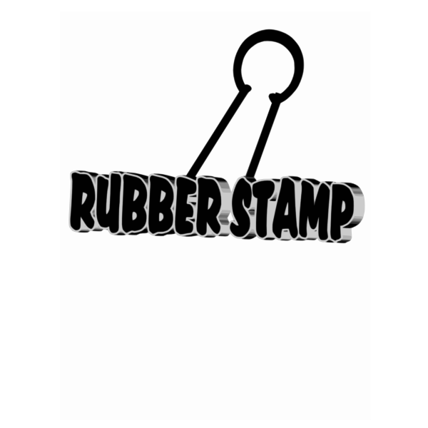 Rubber stamp vector clip art