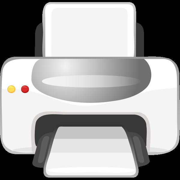 Vector clip art of printer color icon