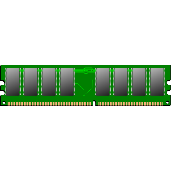 RAM memory vector illustration
