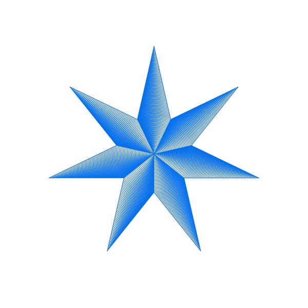 Blue star image