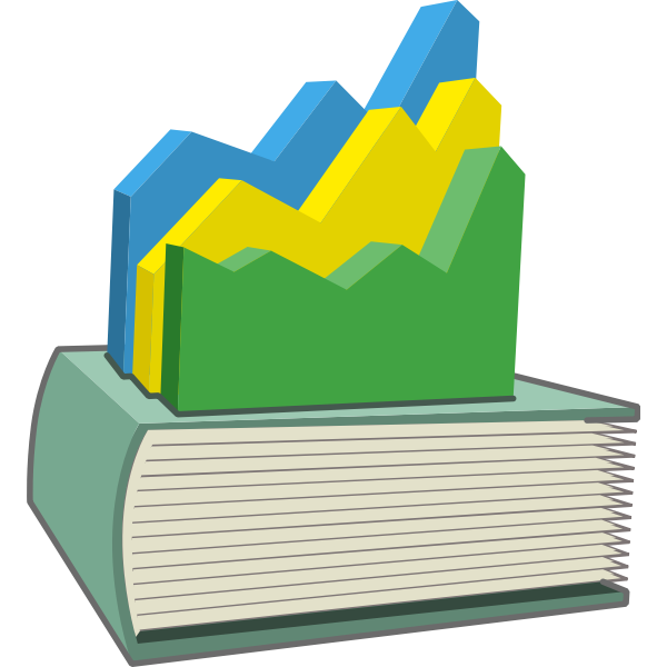 Statistic s book vector image