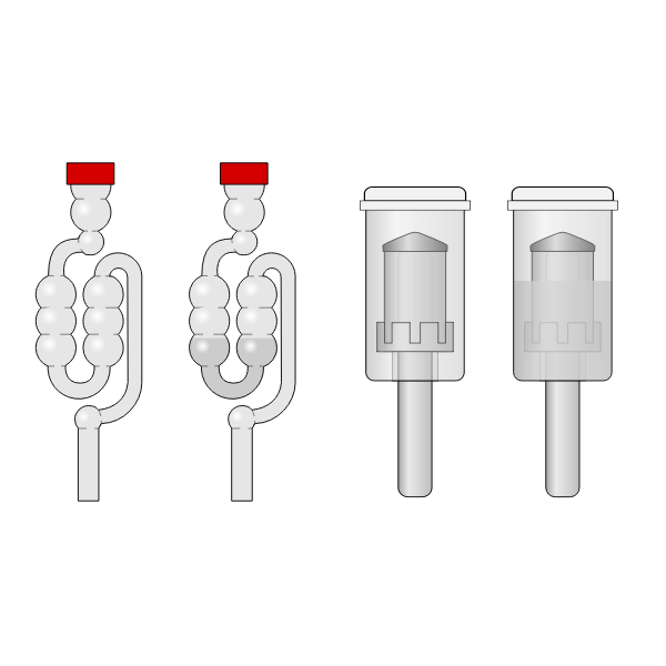 Homebrewing airlocks vector image