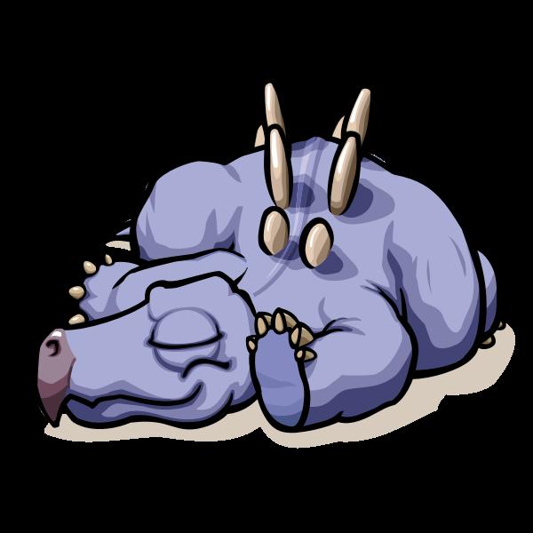 Sleeping dino
