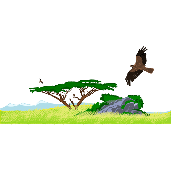 Steppe illustration