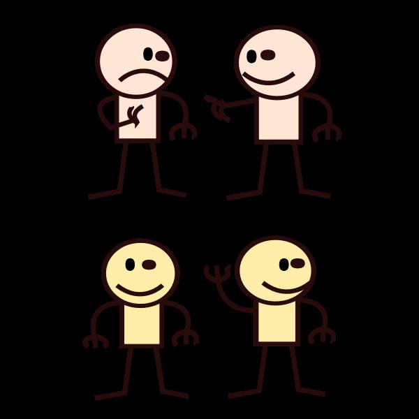 Vector clip art of stick man selection