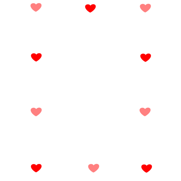 Heart and candy border vector drawing